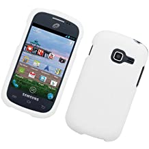 Eagle Cell Rubber Protector Cover for Samsung Galaxy Centura/S738C/Discover S730G - Retail Packaging - White