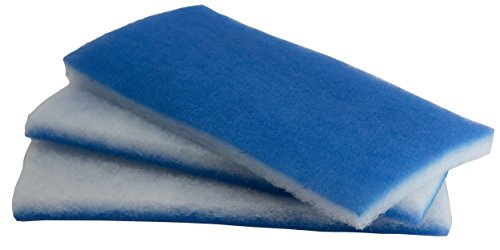 inTank Aquarium and Pond Value Pack - Bonded Blue & White Poly Filter Floss Pads - Poly Dry Pad