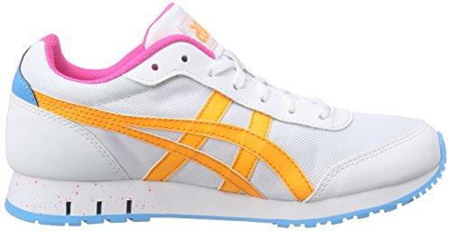 white 0130 Blanc Basses Baskets pop Curreo Asics White Orange Adulte Mixte 0vSFx