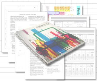 BookFactory Chemistry Lab Notebook (Scientific Ruled Format) - 100 Pages [Wire-O Bound] (LAB-100-WTR-CHEM)
