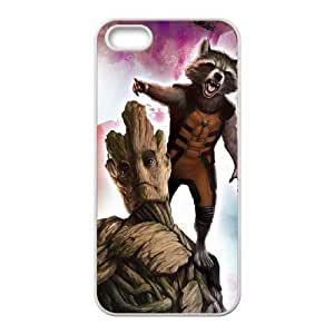 iPhone 4 4s Cell Phone Case White Rocket And Groot Cosmic A5E0FV