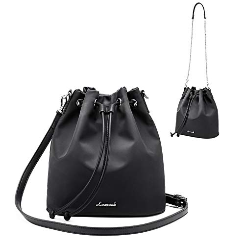 Sponsored LOVEVOOK Drawstring Handbag Bucket Bags for Women Oxford Nylon  with 2-Style 2f99b88a07d89