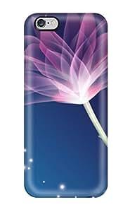 EoKuBPG823LBTUl Case Cover, Fashionable Iphone 6 Plus Case - 3d Purple Flowers