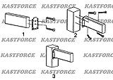 KASTFORCE 20pcs Deck Railing Brackets Connectors