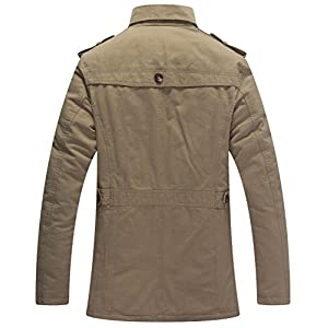 Wantdo Men's Casual Winter Thicken Jacket (Khaki 1, Medium)