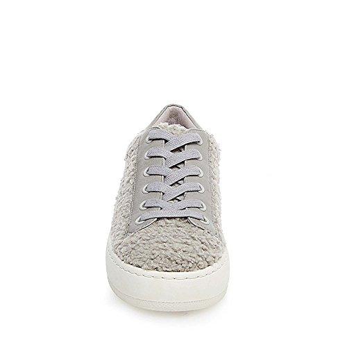 Steve Madden Kvinna Bailey Strukturerade Plattform Mode Sneakers Grå