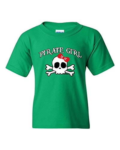 Blue Tees Pirate Girl for Kids Halloween Birthday Party Costume Fashion People Couples Gifts Best Friend Gifts Unisex Youth Kids T-Shirt Tee Clothing Youth Medium Irish Green
