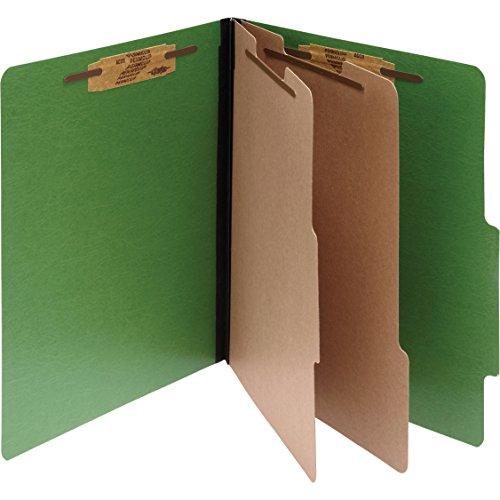 ACCO 16665 ACCO Presstex Colorlife Classification Folder, Legal, 6-Section, Dark Green, 10/Box Acco File Folder
