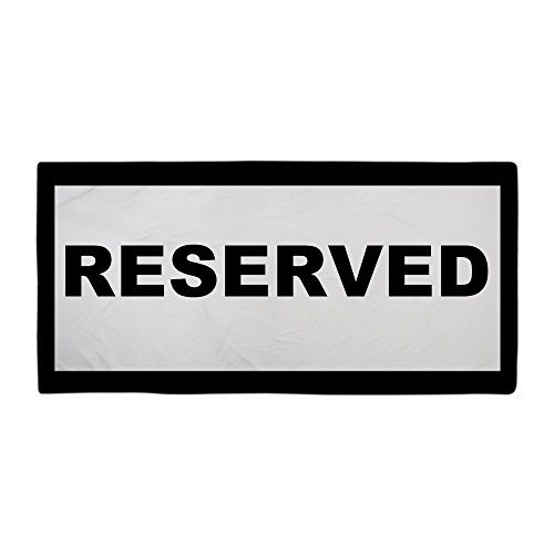 CafePress - Reserved Beach Towels - Large Beach Towel, Soft 30''x60'' Towel with Unique Design by CafePress