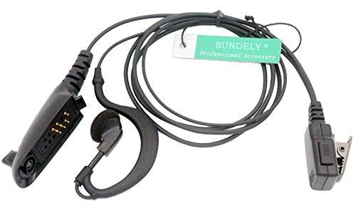 - SUNDELY Clip-Ear Earhook G-Shape Headset/Earpiece Mic for Motorola Radio GP140 GP338 HT1250LS MTX900 PRO5450 PTX780 Multi-pin