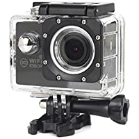 ESCENERY New Full HD 1080P WIFI H16 Action Sports Camera Camcorder Waterproof 32G Memory Card+1200 Million High-Definition Wide-Angle Lens (Black)