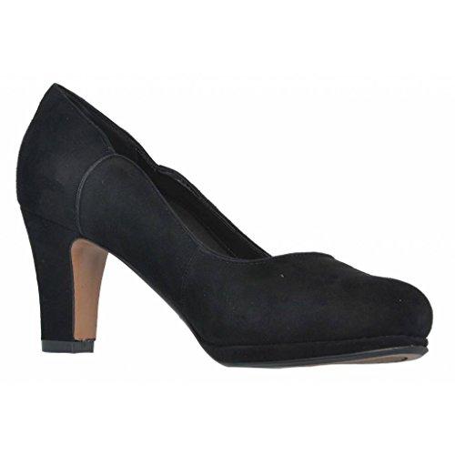 ClarksChorus Nights - Zapatos de Tacón Mujer schwarze Velourslederoptik