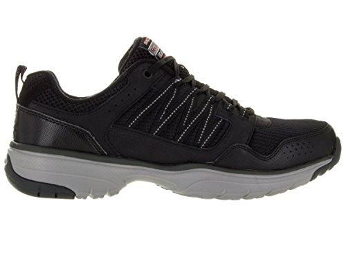 Skechers Heren, Uitkijkpunt Tran Sneakers Met Veters Zwart Grijs