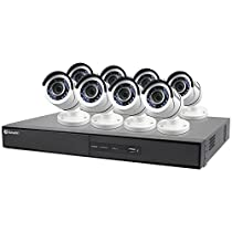 Swann 1080p Digital Video Recorder with 8 PRO-T855 Cameras Surveillance Camera, White/Black (SWDVK-164508-US)