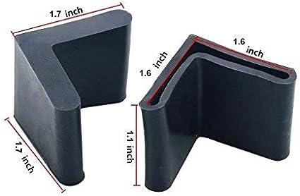Flyshop Bed Frame End Caps Angle Iron Leg Black Rubber Foot Covers 1 16 Pcs