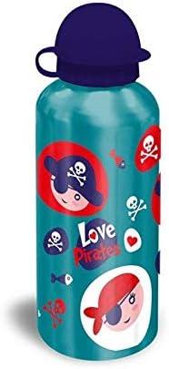 Kids Botella cantimplora de Aluminio de Colección Pirata, Adultos Unisex, Multicolor, Talla Única