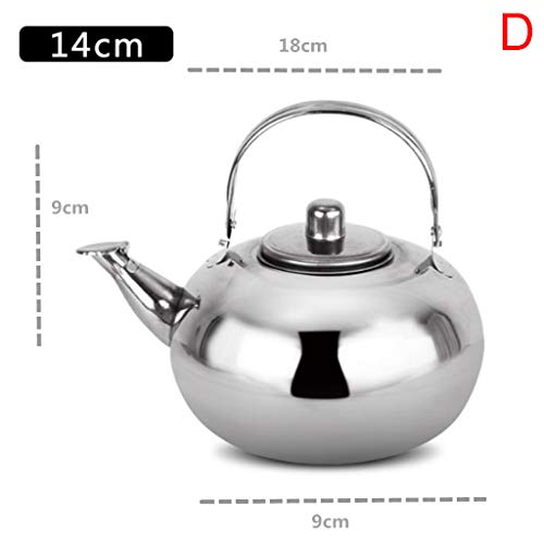 Tea Pot New Polished Stainless Steel Teapot with Lid Tea Kettle For Home Teapot with Tea Filter Silver Scale (Rubbed Bronze Tea Kettle)