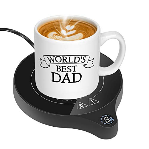 Coffee Mug Warmer, Delicacy Coffee Warmer for Desk with Auto Shut Off Electric Beverage Warmer with 5 Temperature…