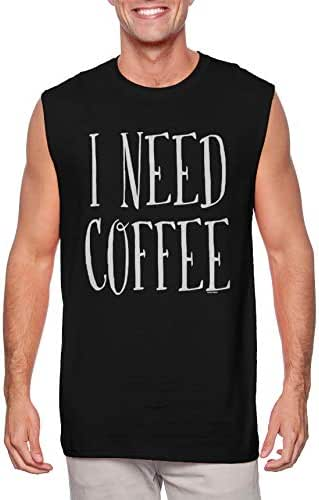 I Need Coffee - Mornings Latte Cappuccino Men's Sleeveless Shirt