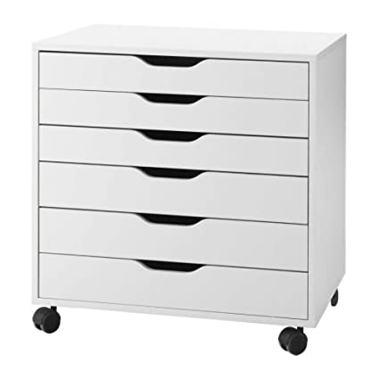 IKEA 401.962.41 Alex Drawer On Casters, White, 26u0026quot; Height, 19u0026quot