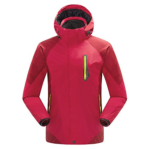 MEI&S El hombre/mujer ski 3en1 Impermeable Chaqueta polar Tops extraíble escalada exterior cubra ,