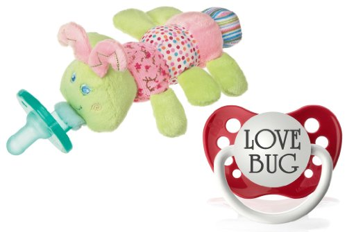 Cutsie Caterpillar Infant Pacifier with BONUS