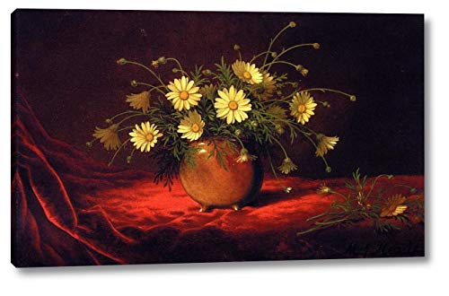 Yellow Daisies in a Bowl by Martin Johnson Heade - 9