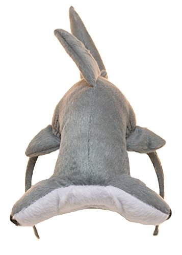 Jacobson Hat Company Unisex-Adults Hammerhead Shark Headband, Gray, Adjustable (Hammerhead Shark Halloween Costume)