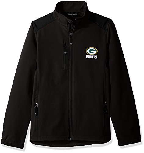 NFL Green Bay Packers Men's Softshell Jacket, Medium, (Green Bay Packers Coat)