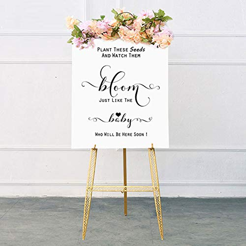 Plant These Seeds and Watch Them Bloom Baby Shower Favor Sign Chic Seed Packet Favors Baby Shower Seed Packets Sign Baby Shower Seed Bombs Sign ()
