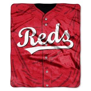 MLB Cincinnati Reds Jersey Plush Raschel Throw, 50'' x 60''