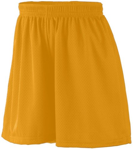 Augusta Sportswear Womens Tricot Lined Mesh Short, GOLD, XX-Large