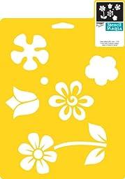 Delta Creative Stencil Mania Stencil, 7 by 10-Inch, 970060710 Flowers