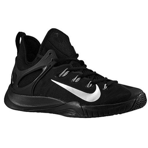 Nike Mens Zoom Hyperrev 2015 Black/Metallic Silver Basketball Shoe 11 Men US ()