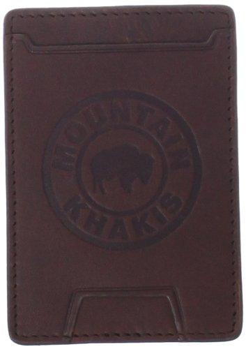 Mountain Khakis Leather - Mountain Khakis Unisex Mk Wallet, Brown, One Size