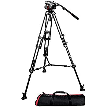 Manfrotto 504HD,546BK Video Tripod Kit with 504HD Head and 546 Tripod - Black