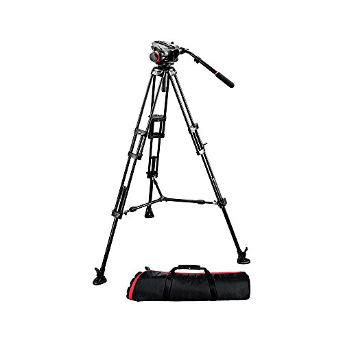 Manfrotto 504HD,546BK Video Tripod Kit with 504HD Head and 546 Tripod - Black by Manfrotto