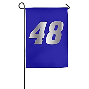 Jimmie Johnson 48Logo Platinum estilo bgeriger Home Garden banderas