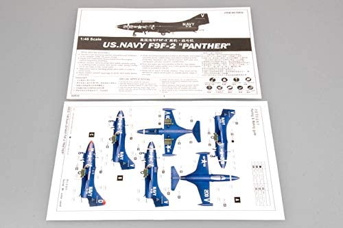 Modellino Aereo F9F2 Panther Us Navy Fighter Scala 1:48 Giappone Import Trumpeter