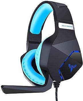 Auriculares FHW for Juegos, Escritorio portátil, con Cable Esports bajo estéreo de micrófono, for el móvil / PS4 / Xbox One/PC