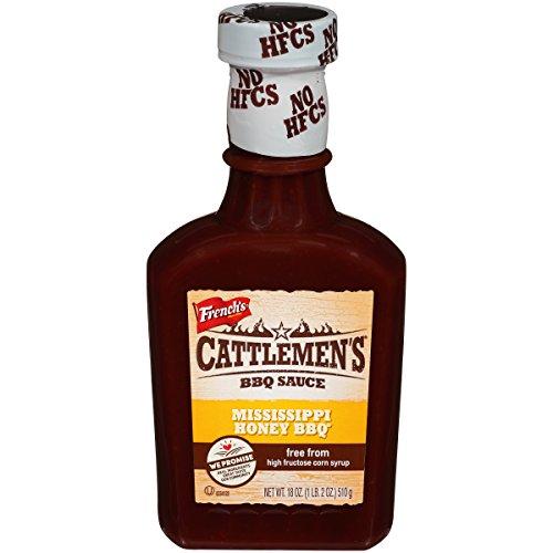 Cattlemen's Mississippi Honey BBQ Sauce (Dairy Free, Gluten Free, Vegetarian BBQ Sauce), 18 oz
