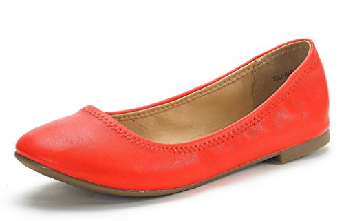 (DREAM PAIRS Women's Sole Happy Coral Ballerina Walking Flats Shoes - 7 M US)