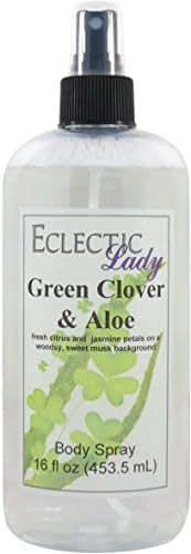 Green Clover And Aloe Body Spray, 16 ounces