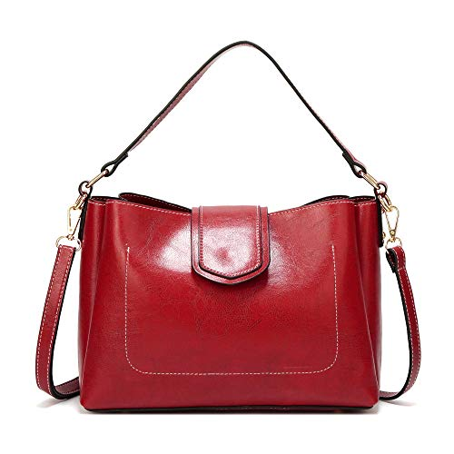 Bag 2018 negro American Bag Female Leather Messenger And Simple Fashion Shoulder Rojo European Oil Ladies hlh Arx5wr
