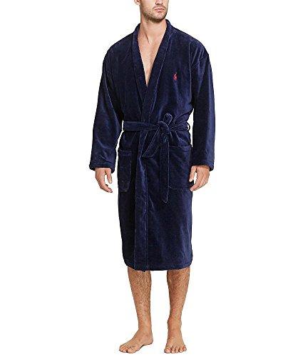 Polo Ralph Lauren Velour Kimono Robe, S/M, Navy