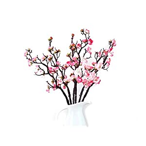 Mr Go Shop 6 Pieces of Artificial Plum Blossom Artificial Flowers Artificial Flora Simulation Flowerfor Home Decorations Office Kitchen Weeding 56