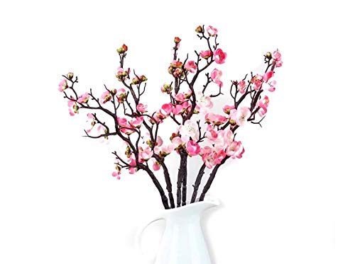 - Mr Go Shop 6 Pieces of Artificial Plum Blossom Artificial Flowers Artificial Flora Simulation Flower for Home Decorations Office Kitchen Weeding