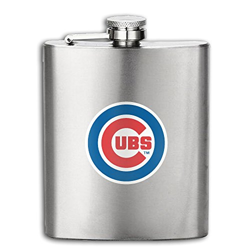Team Chicago Cubs Basic Logo Hip Flask Stainless Steel Pocket Flagon