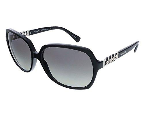 New Coach Sunglasses Women Square HC 8155Q Black 500211 L...