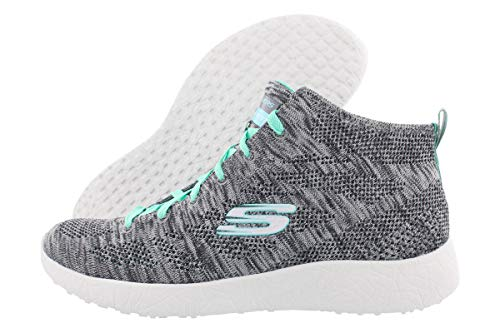 Skechers Sport Women's Divergent Fashion Sneaker,Gray/Aqua,6 M US